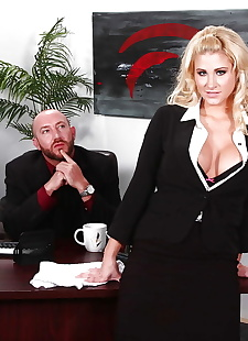xxx pics Stunning secretary with round jugs, blonde , blowjob  office