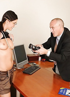 xxx pics European office slut Diana Stewart, ass , blowjob