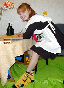 russian xxx pics Young Russian girl with red hair gets, ass , panties