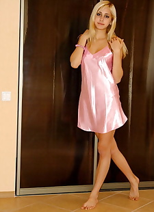 xxx pics Sweet blonde teen in pink satin, ass , blonde