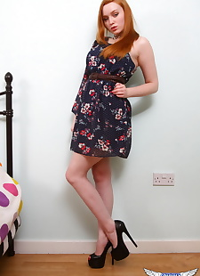 xxx pics Natural redhead Kloe Kane shows some, ass , lingerie  foot fetish