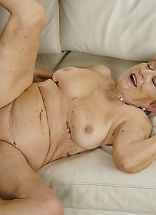 xxx pics Sexy blonde grandma seduces young, blonde , interracial