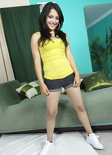 xxx pics Black haired Hispanic Andrea Kelly, petite , latina