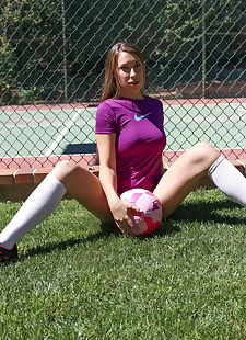 xxx pics Hot soccer player Kimber Lee does some, brunette , amateur