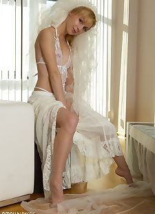 xxx pics Beautiful bride Toni peels her sheer, ass , blonde