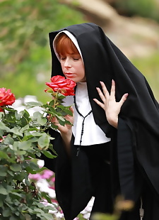 xxx pics Redheaded nun Penny Pax shows off her, ass , outdoor