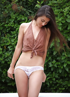 xxx pics Erotic Lorena G reveals her tiny tits, ass , outdoor