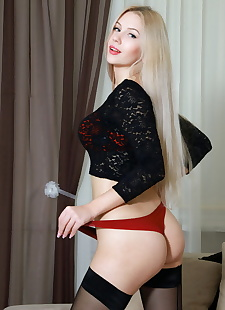 xxx pics Blonde beauty Izabel showing petite, ass , blonde